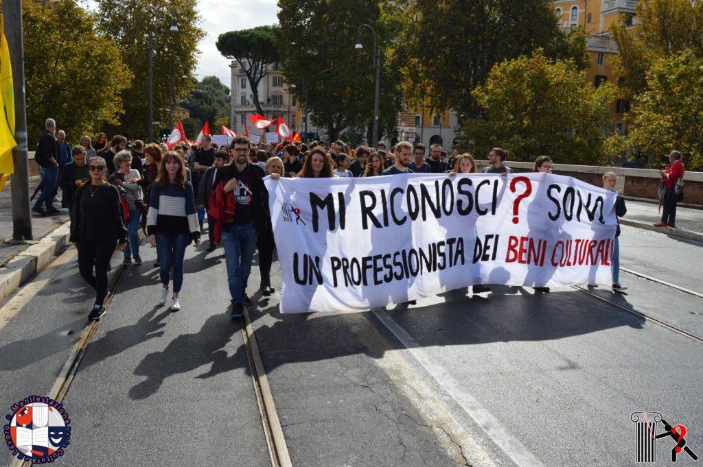 Uno scatto dalla Manifestazione per la Cultura e il Lavoro, Roma 6 ottobre 2018