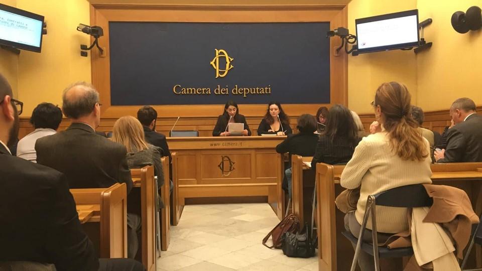 La conferenza stampa di presentazione dei risultati dell'inchiesta Cultura, contratti e condizioni di lavoro; Sala Stampa della Camera dei Deputati, 30 ottobre 2019