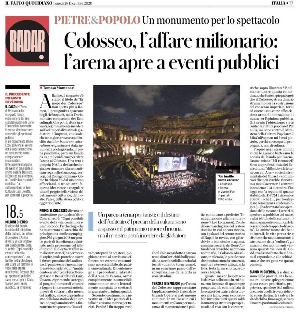 Colosseo_affare_milionario_Montanari