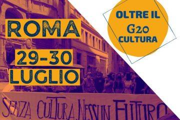 G20 cultura lavoratori associazioni manifestazione colosseo